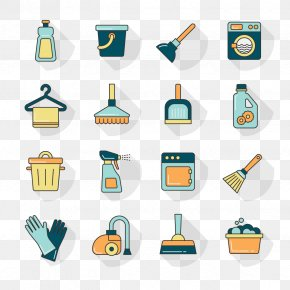 Vector Cleaning - Cleaner Washing Machine Laundry Bucket Icon PNG