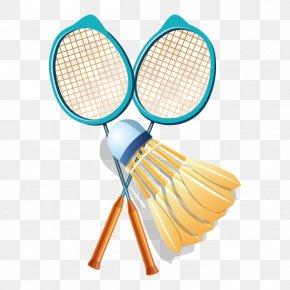 Blue Badminton Racket Material - Badmintonracket Shuttlecock Sport PNG