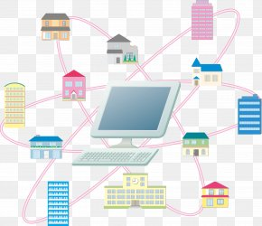Internet City - Internet Cartoon Drawing Illustration PNG