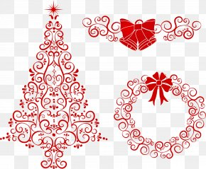 Vector Pattern Christmas Decoration - Christmas Decoration Wreath PNG