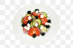 Cheese Fruits And Vegetables - Greek Salad Greek Cuisine Mediterranean Cuisine Vegetable PNG