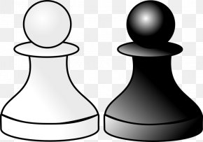 Black And White Background Black - Chess Piece Black & White Pawn White And Black In Chess PNG
