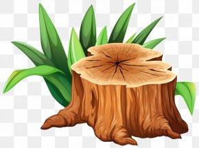 Clip Art Tree - Tree Stump Trunk Clip Art PNG