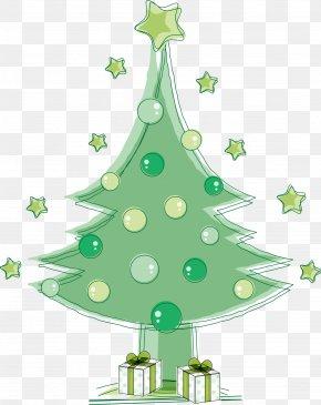 Vector Green Christmas Tree - Christmas Tree Euclidean Vector PNG