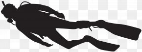 Diver Silhouette Clip Art Image - Scuba Diving Underwater Diving Silhouette PNG