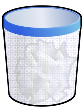 Trash Container Cliparts - Paper Waste Container Recycling Bin Clip Art PNG