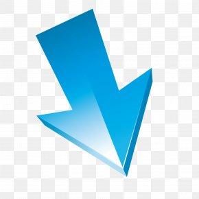 Vector Straight Down Arrow Blue Texture Three-dimensional - Euclidean Vector Three-dimensional Space Arrow PNG