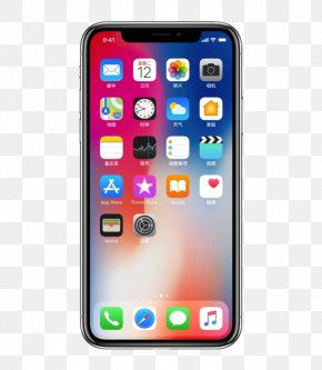 IPhone,X Front View - IPhone 4 IPhone X Screen Protector Smartphone IOS PNG