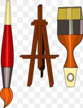 Painting - Painting Easel Art Paintbrush Clip Art PNG