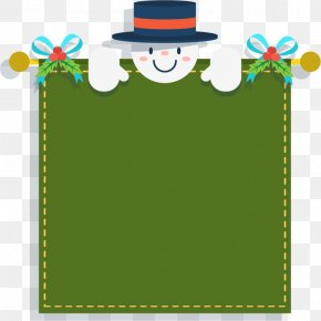 Vector Snowman Decoration Textbox - Picture Frame Text Box Snowman PNG