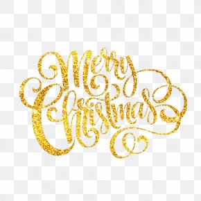 Golden Merry Christmas - Christmas Download PNG