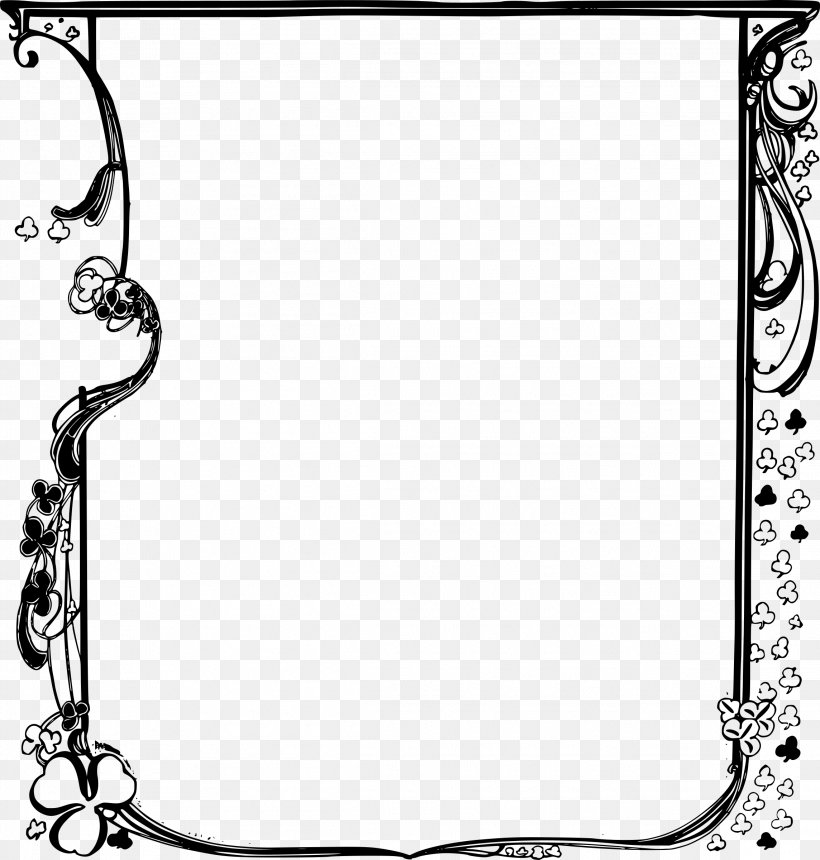 Saint Patrick's Day Clip Art, PNG, 2288x2400px, Saint Patrick S Day, Area, Black, Black And White, Body Jewelry Download Free