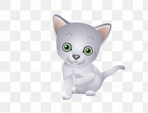 Kitten - Kitten Domestic Short-haired Cat Whiskers Cartoon PNG