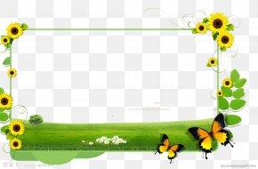 Sunflower Border - Common Sunflower Clip Art PNG