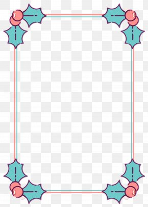 Picture Frame Turquoise - Picture Frame PNG