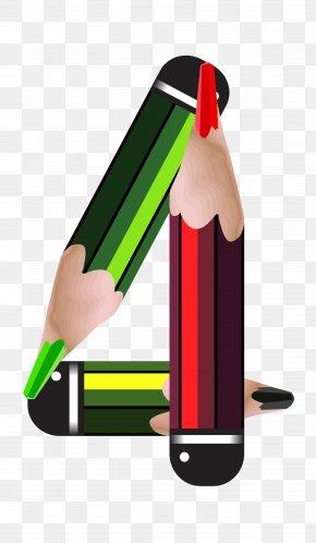 Pencil Number Four Clipart Image - Pencil Blog Clip Art PNG
