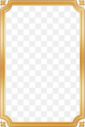 Gold Frame - Picture Frame Film Frame Download PNG