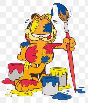 Painting - Odie Garfield Painting Art Clip Art PNG