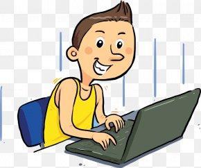 Vector Laptop Online Men - Laptop Internet PNG