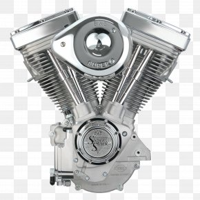 Motorbike - Harley-Davidson Evolution Engine S&S Cycle Motorcycle PNG