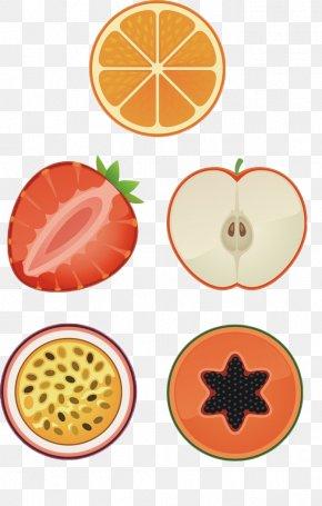 Orange Strawberry Fruit Slices Free Stock Buckle - Fruit Orange Clip Art PNG