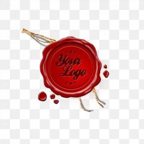 Red Sealing Wax Stamp Logo - Paper Sealing Wax Stamp Seal Rubber Stamp PNG
