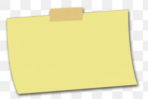 Sticky Note - Paper Brand Yellow PNG