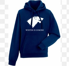 Winter Is Coming - Hoodie Winter Is Coming T-shirt Bluza House Stark PNG