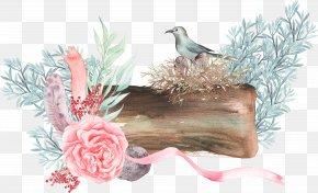 Bird Flowers Branch - Download Pixel PNG