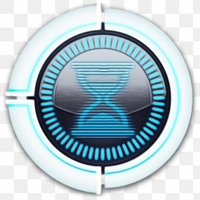 Emblem Logo - Turquoise Aqua Circle Turquoise Electric Blue PNG