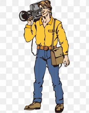 Hand-painted Cartoon Foreign TV Cameraman Equipment - Camera Operator Photographer Clip Art PNG