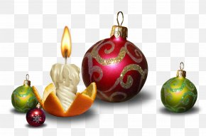 Candel - Christmas Ornament New Year Santa Claus Ded Moroz PNG