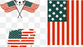 Vector Hand Painted American Flag - Flag Of The United States Graphic Design PNG