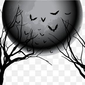 Halloween Elements - Halloween Euclidean Vector Night Sky PNG