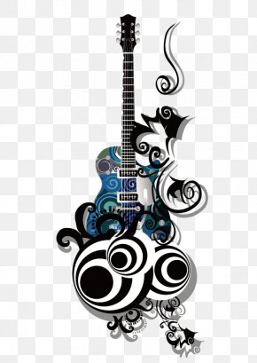 Vector Black Guitar - India Wall Decal Sticker Polyvinyl Chloride PNG