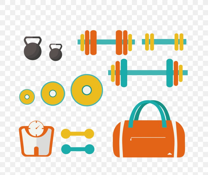 Exercise Equipment Physical Exercise Euclidean Vector Sports Equipment, PNG, 1489x1255px, Exercise Equipment, Area, Barbell, Brand, Dumbbell Download Free