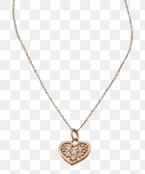 Gold Heart - Necklace Gold Jewellery Charms & Pendants Diamond PNG