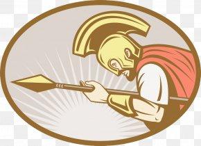 Gladiator Spear Attack - Gladiator Stock Illustration Royalty-free Clip Art PNG