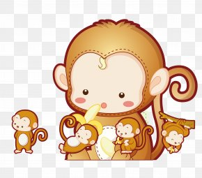 Q Version Of The Monkey - Monkey Free Content Clip Art PNG
