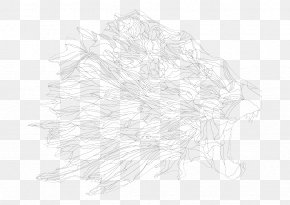 Lionhead Line Art FIG. - White Line Art Tree Black Sketch PNG