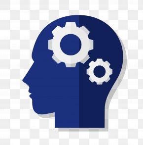Vector Brain Gear Material - Gear Brain Human Head Icon PNG