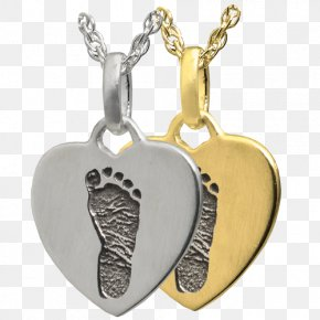 Jewellery - Locket Jewellery Necklace Footprint Gold PNG