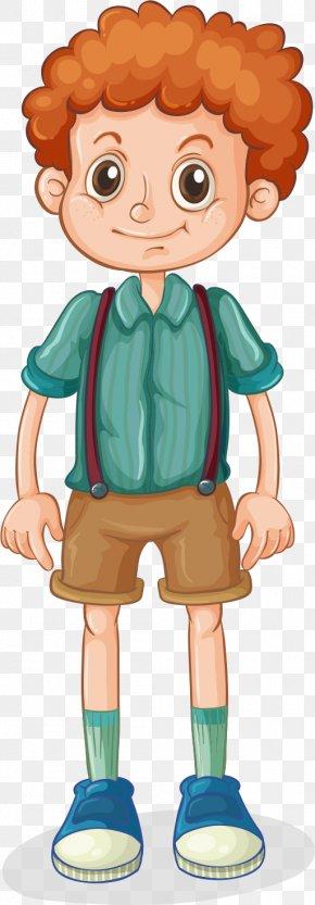 Curly Boy - Hair Cartoon Clip Art PNG