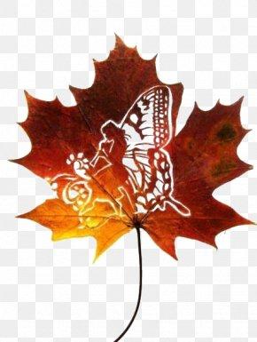 Maple Leaf - Artist Leaf Work Of Art Sculpture PNG
