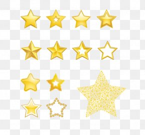 Gold Five-pointed Star - Star Royalty-free Euclidean Vector Clip Art PNG