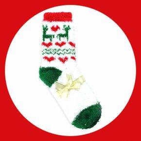 Christmas Socks - Christmas Ornament Sock Santa Claus Candy Cane Christmas Stocking PNG