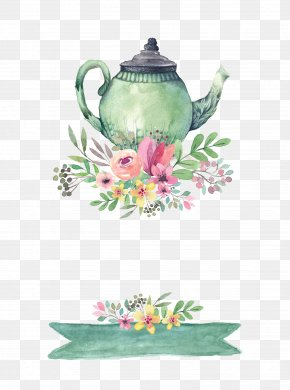 Drawing Teapot - Tea Party Wedding Invitation Bridal Shower PNG