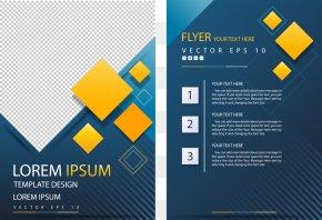 Vector Yellow Diamond Flyer - Poster Geometric Shape Flyer PNG
