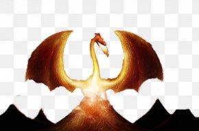 Volcano And Dragon - Volcano Euclidean Vector Icon PNG