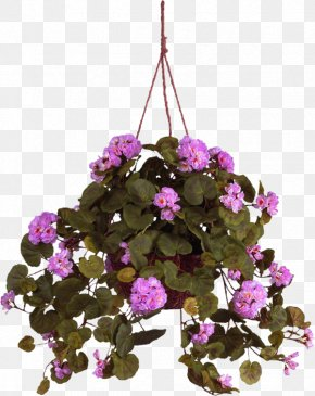 Flower - Hanging Basket Crane's-bill Artificial Flower PNG